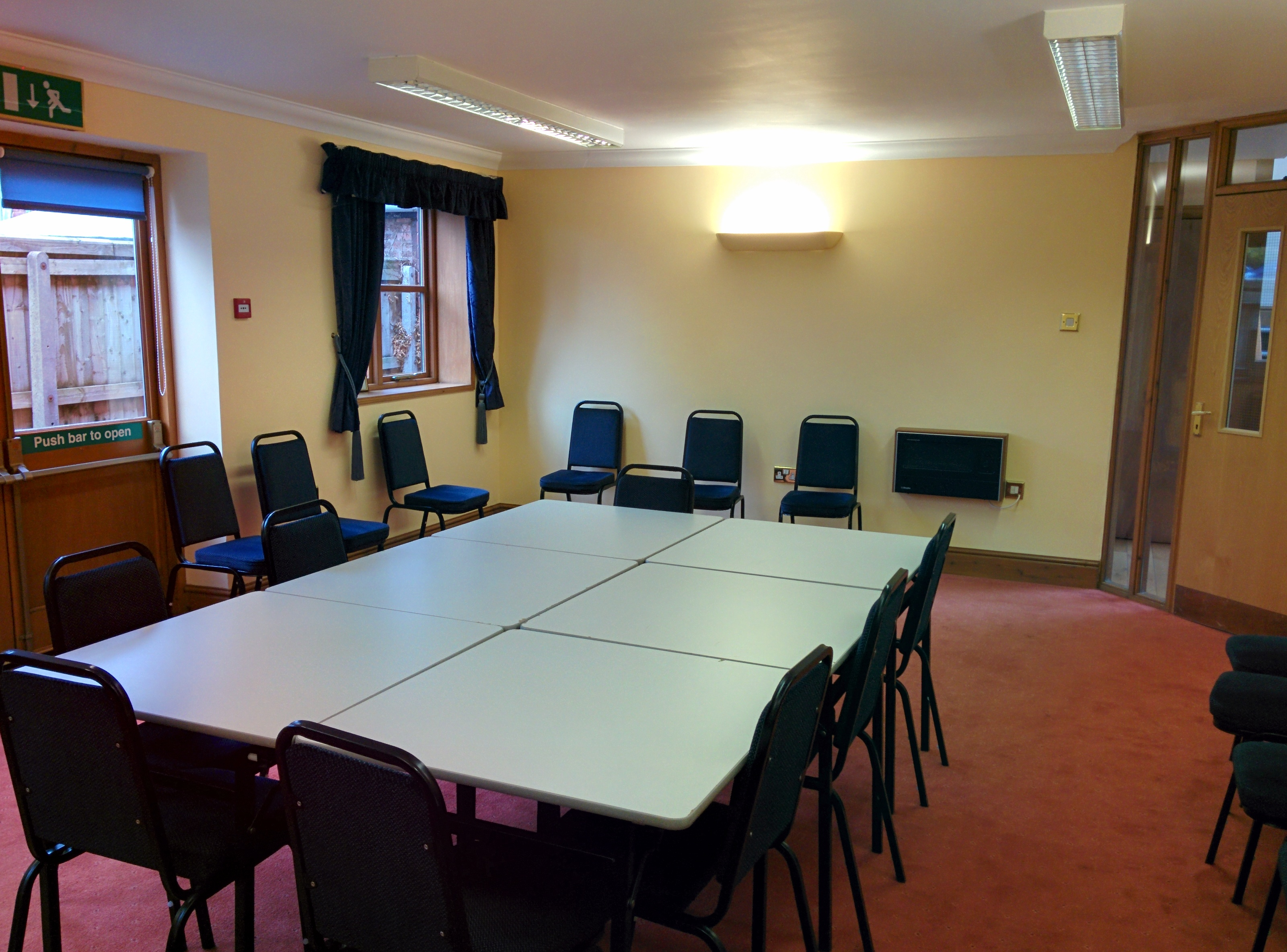 The meeting room at Dymock Parish Hall.
