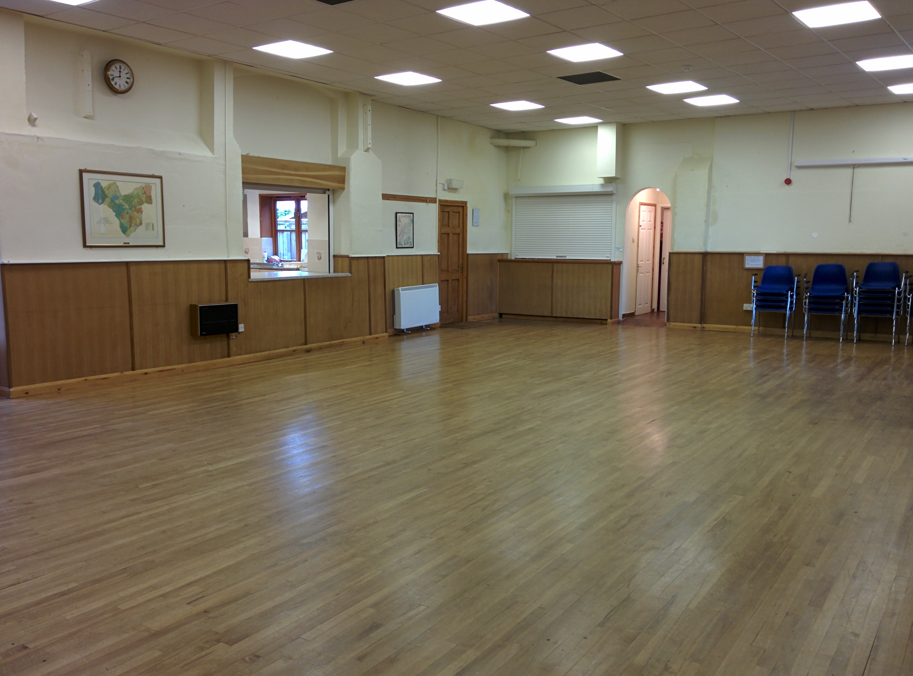 The main hall at Dymock Parish Hall.